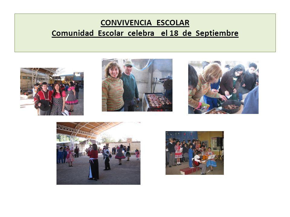 CONVIVENCIA ESCOLAR Comunidad Escolar celebra el 18 de Septiembre