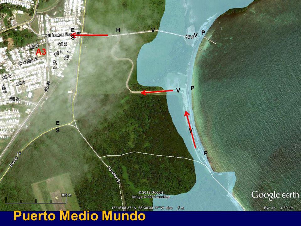 Puerto Medio Mundo A3 V V HESES ESES V V P P P