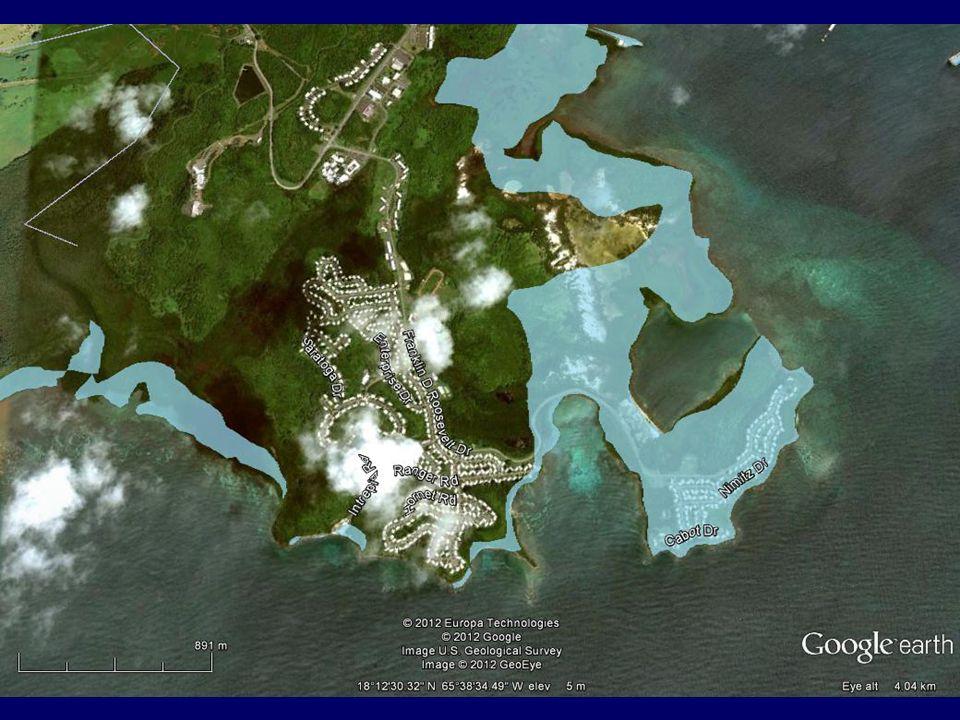 Mapa de Inundación indica que Pta. Cascajo se inunda. Aclarar.