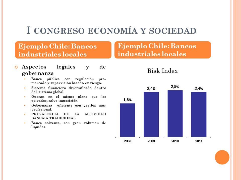 I CONGRESO ECONOMÍA Y SOCIEDAD Ejemplo Chile: Bancos industriales locales ROE Operative Efficiency