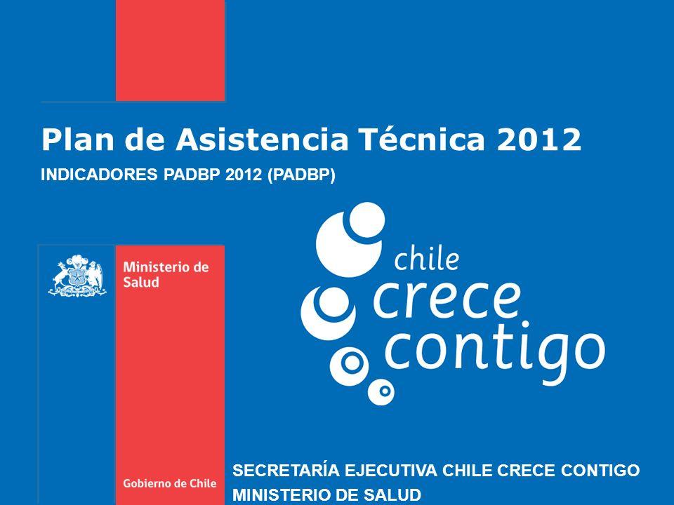 Plan de Asistencia Técnica 2012 INDICADORES PADBP 2012 (PADBP) SECRETARÍA EJECUTIVA CHILE CRECE CONTIGO MINISTERIO DE SALUD