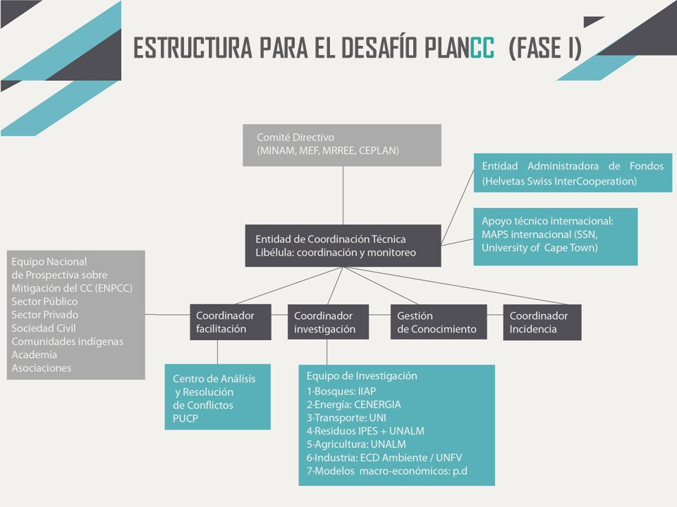 ESTRUCTURA PARA EL DESAFÍO PLANCC (FASE I)