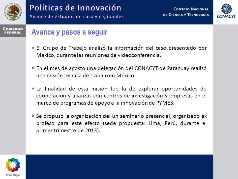 Avance y pasos a seguir El Grupo de Trabajo analizó la información del caso presentado por México, durante las reuniones de videoconferencia.