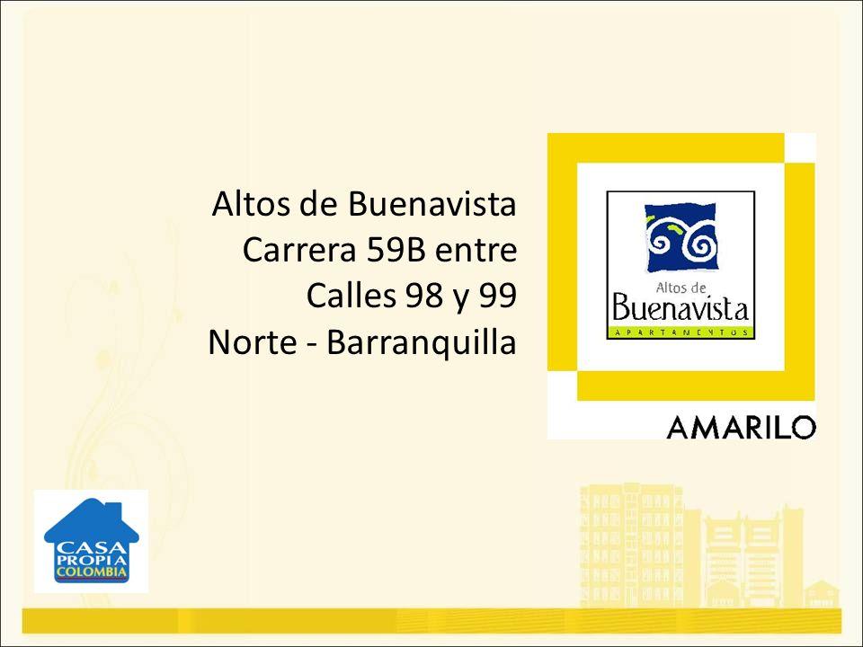Altos de Buenavista, se encuentra ubicado en el norte de Barranquilla, en el sector de La Castellana, zona destacada por su desarrollo urbanístico, residencial y comercial.