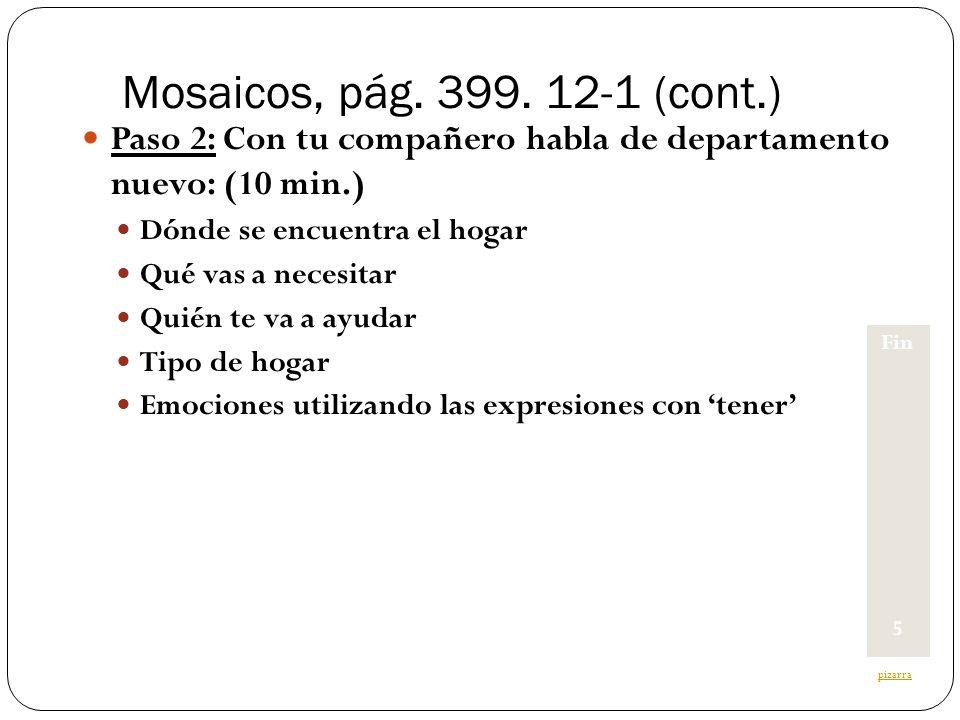 Written & oral output Lluvia de ideas (Brainstorm) Paso 1.