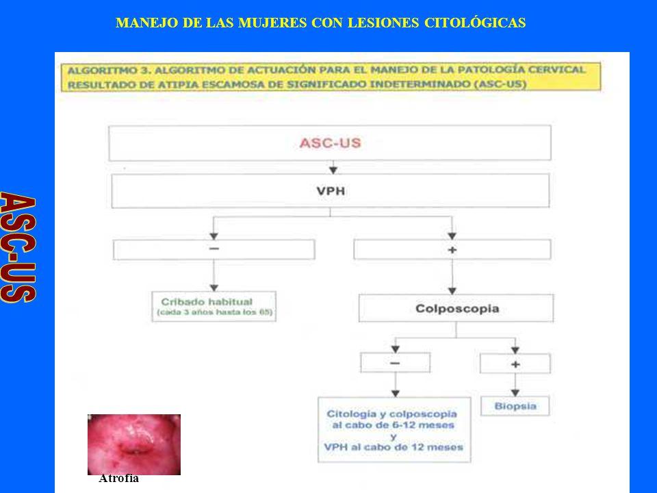 37 MANEJO DE LAS MUJERES CON LESIONES CITOLÓGICAS Atrofia