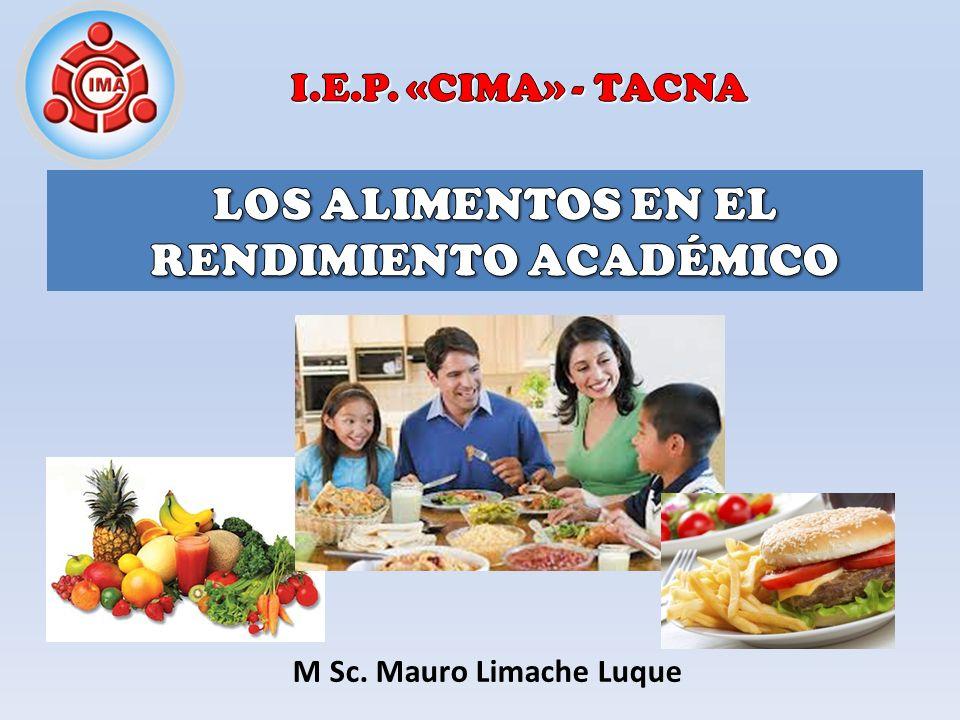 Desarrollar la responsabilidad de los padres de familia, familiares y la institución en materia de alimentación en el rendimiento académico.