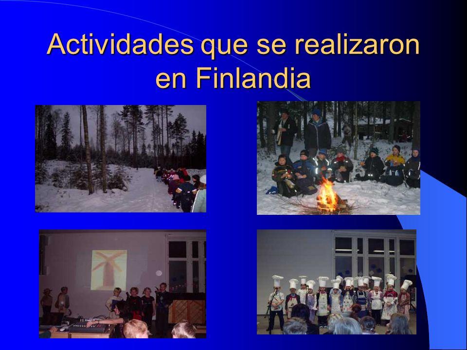 Actividades que se realizaron en Finlandia