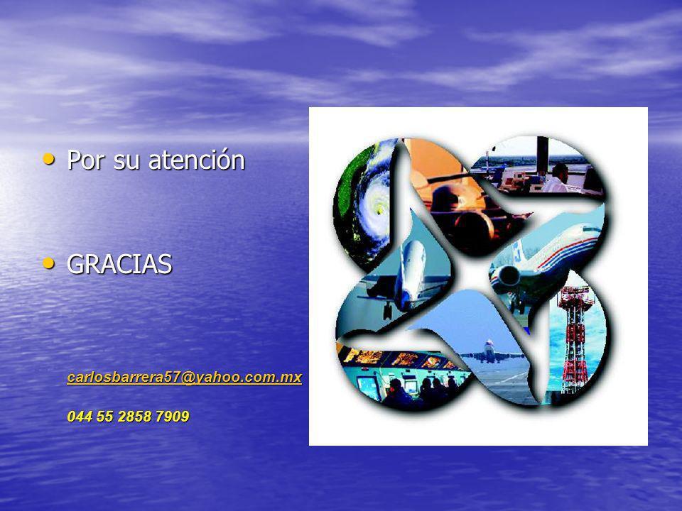 Por su atención Por su atención GRACIAS GRACIAS carlosbarrera57@yahoo.com.mx 044 55 2858 7909