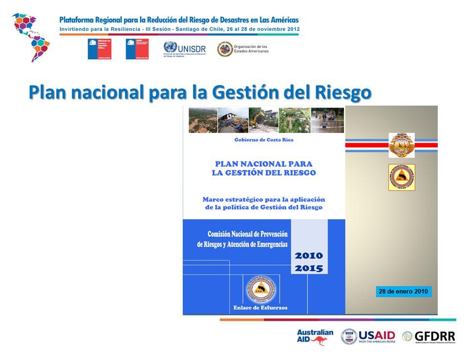 Plan nacional para la Gestión del Riesgo