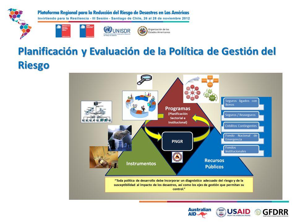 Planificación y Evaluación de la Política de Gestión del Riesgo