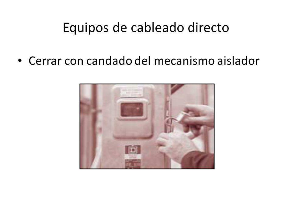 Equipos de cableado directo Cerrar con candado del mecanismo aislador
