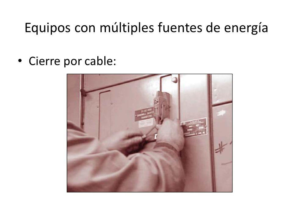 Equipos con múltiples fuentes de energía Cierre por cable: