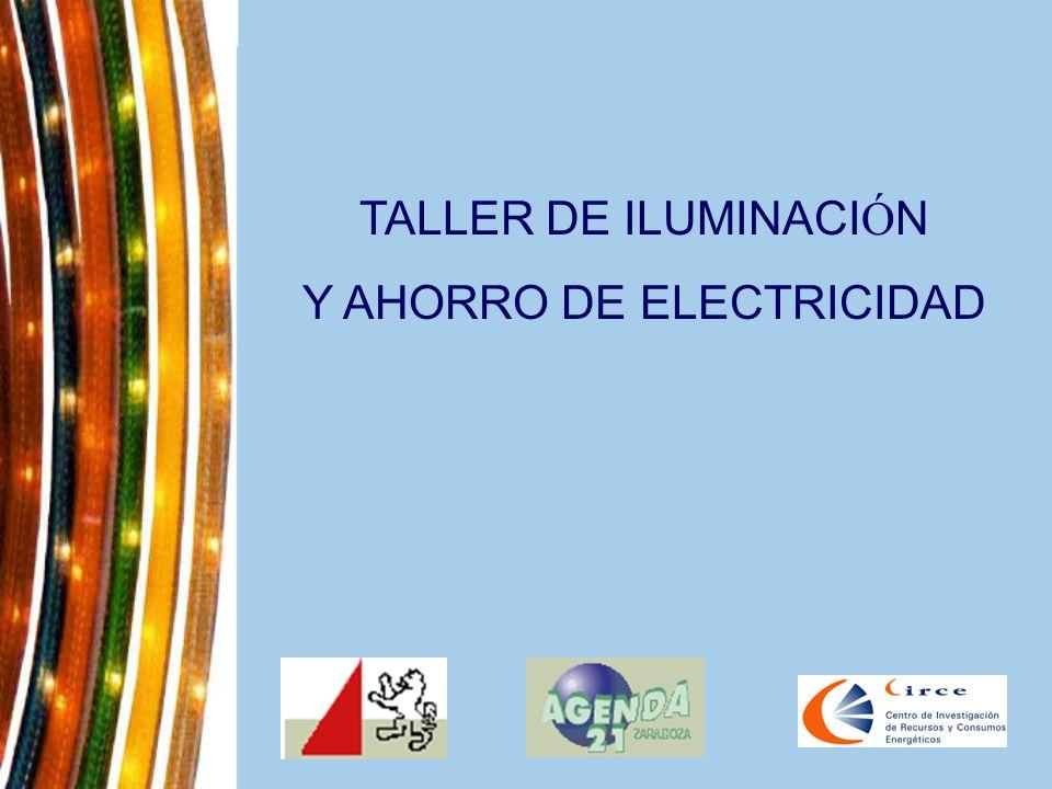 TALLER DE ILUMINACI Ó N Y AHORRO DE ELECTRICIDAD