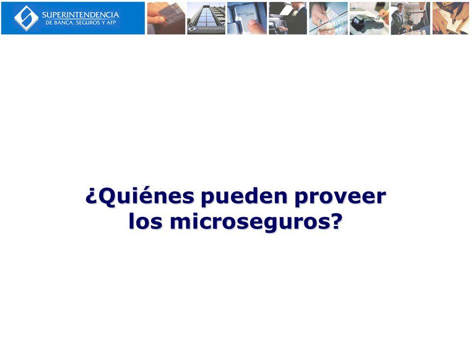 ¿Quiénes pueden proveer los microseguros?