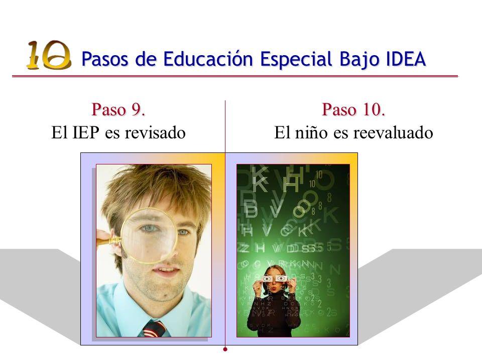 Paso 9. Paso 9. El IEP es revisado Paso 10. Paso 10.