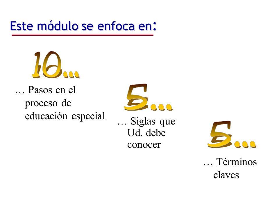 Pasos de Educación Especial Bajo IDEA Paso 1.Paso 1.