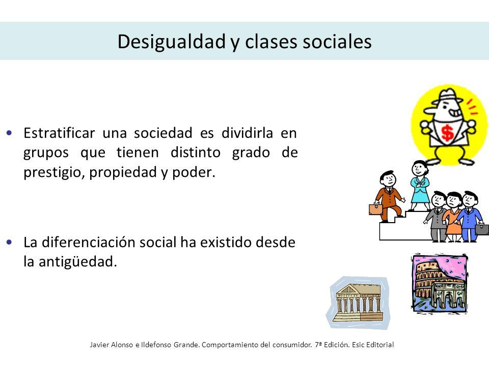 Desigualdad y clases sociales Estratificar una sociedad es dividirla en grupos que tienen distinto grado de prestigio, propiedad y poder. La diferenci