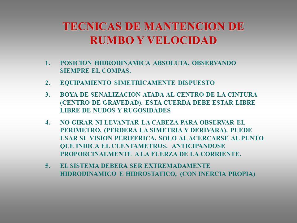 TECNICAS DE MANTENCION DE RUMBO Y VELOCIDAD 1.POSICION HIDRODINAMICA ABSOLUTA.