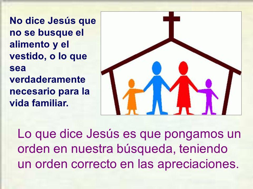 Un discípulo de Jesús debe vivir confiando en el Señor. Debe vivir bajo la Providencia de Dios.