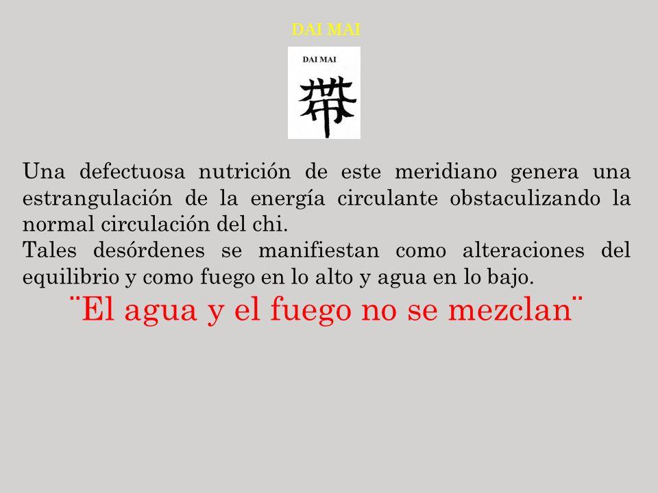 DAI MAI Una defectuosa nutrición de este meridiano genera una estrangulación de la energía circulante obstaculizando la normal circulación del chi. Ta