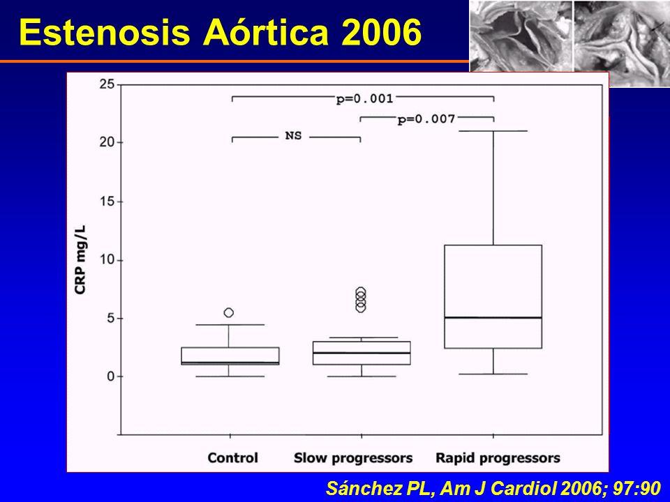 Sánchez PL, Am J Cardiol 2006; 97:90 Estenosis Aórtica 2006