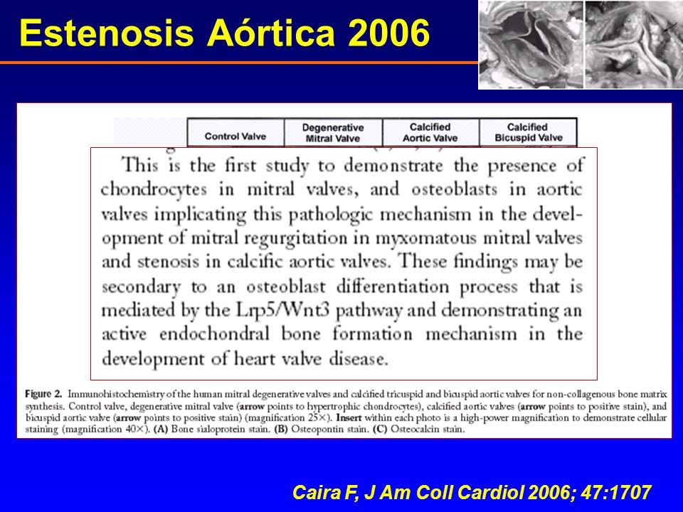 Estenosis Aórtica 2006 Caira F, J Am Coll Cardiol 2006; 47:1707