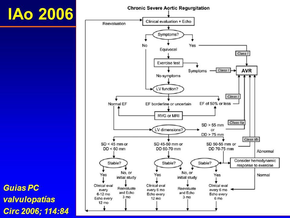 IAo 2006 Guias PC valvulopatías Circ 2006; 114:84