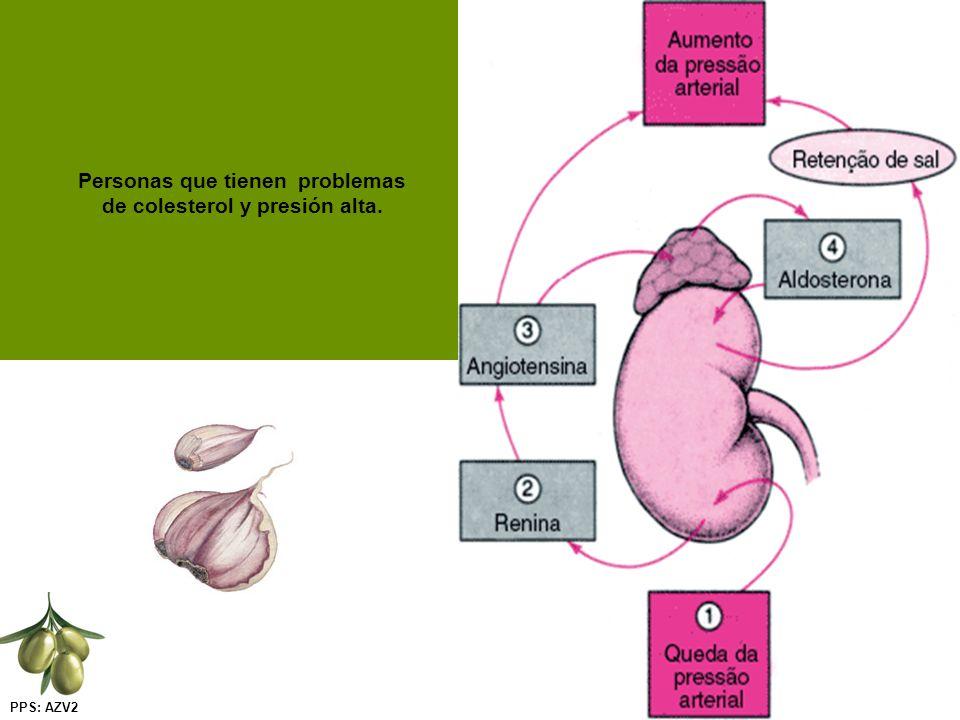 PPS: AZV2 Personas que tienen problemas de colesterol y presión alta.
