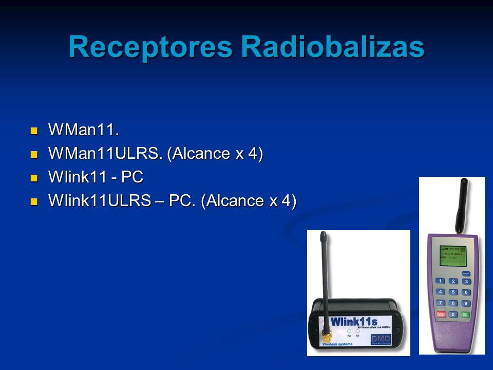 Receptores Radiobalizas WMan11. WMan11. WMan11ULRS. (Alcance x 4) WMan11ULRS. (Alcance x 4) Wlink11 - PC Wlink11 - PC Wlink11ULRS – PC. (Alcance x 4)
