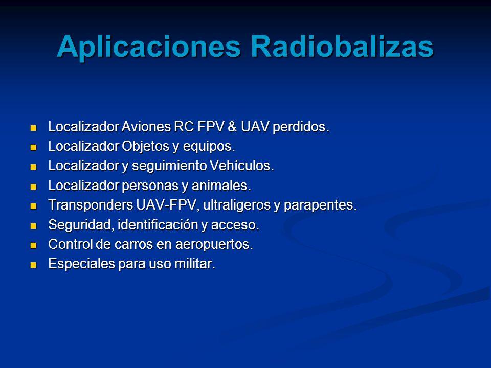 Aplicaciones Radiobalizas Localizador Aviones RC FPV & UAV perdidos. Localizador Aviones RC FPV & UAV perdidos. Localizador Objetos y equipos. Localiz