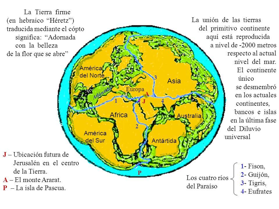 La Tierra firme (en hebraico Héretz) traducida mediante el cópto.