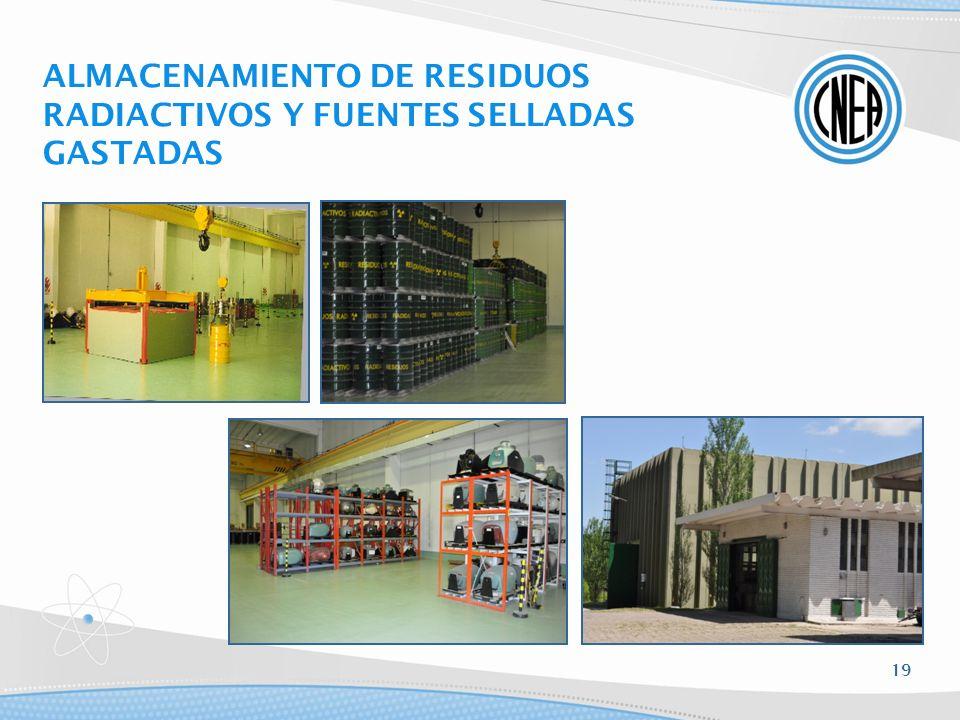 ALMACENAMIENTO DE RESIDUOS RADIACTIVOS Y FUENTES SELLADAS GASTADAS 19