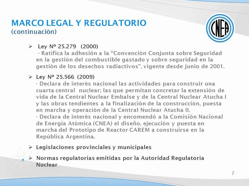 Ley Nº 25.279 (2000) - Ratifica la adhesión a la Convención Conjunta sobre Seguridad en la gestión del combustible gastado y sobre seguridad en la ges