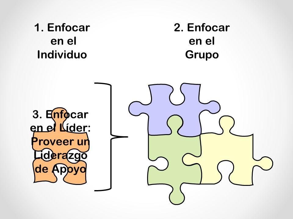 1.Enfocar en el Individuo 2. Enfocar en el Grupo 3.