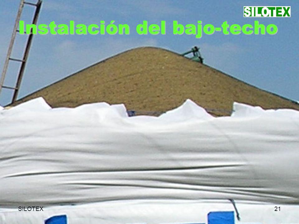 SILOTEX21 Instalación del bajo-techo
