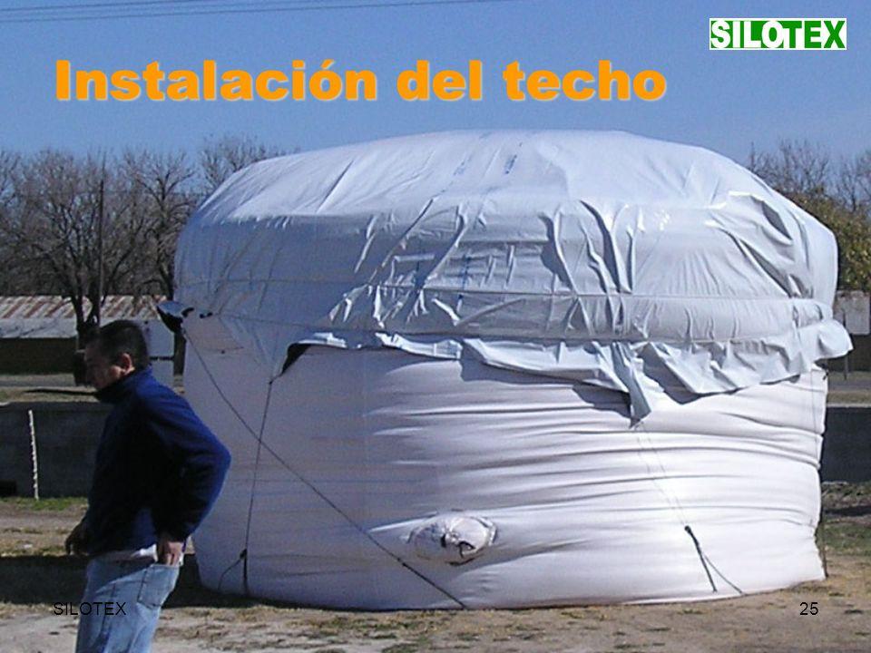SILOTEX25 Instalación del techo