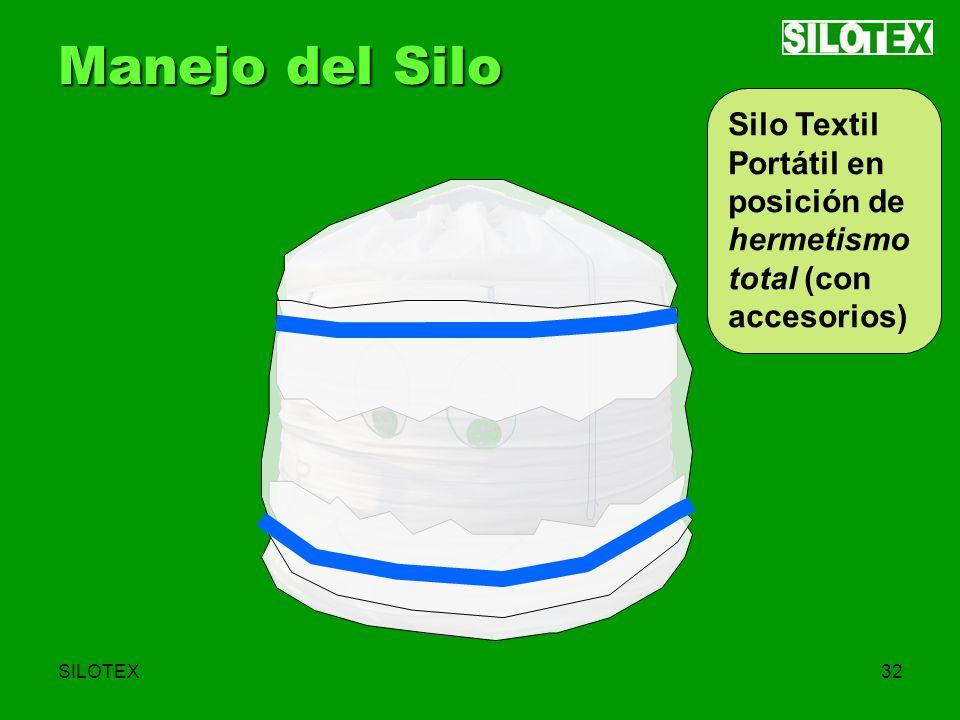 SILOTEX32 Manejo del Silo Silo Textil Portátil en posición de hermetismo total (con accesorios)