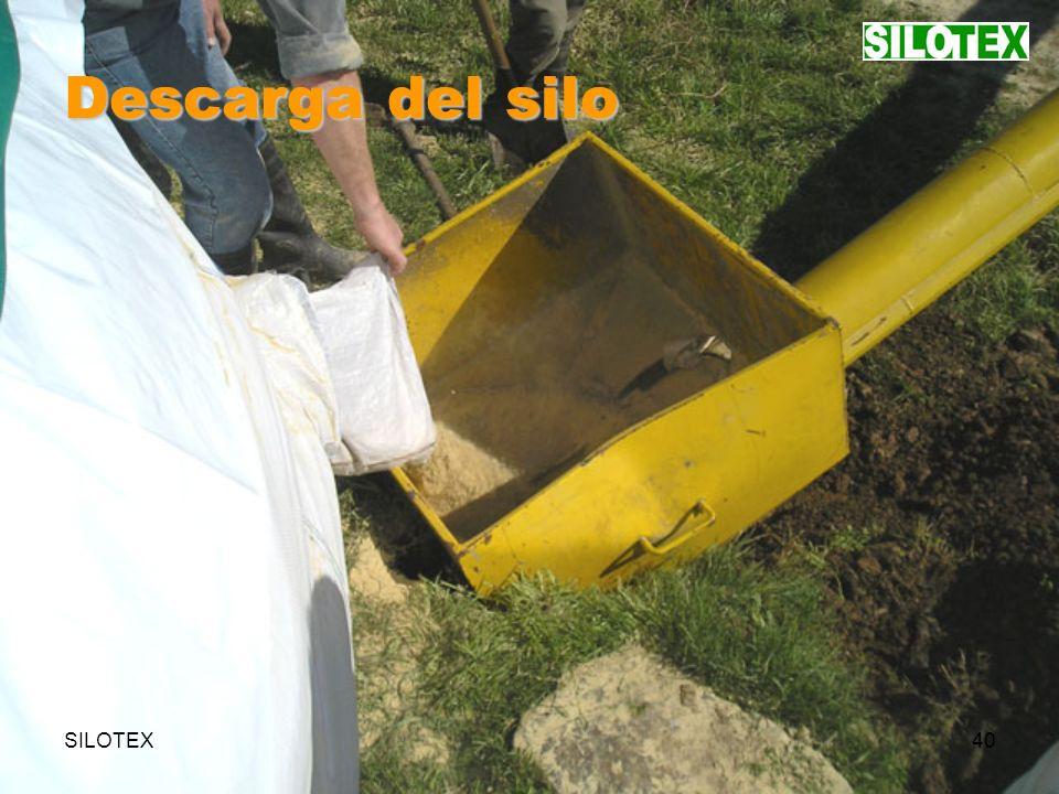 SILOTEX40 Descarga del silo