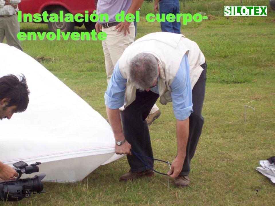 SILOTEX8 Instalación del cuerpo- envolvente