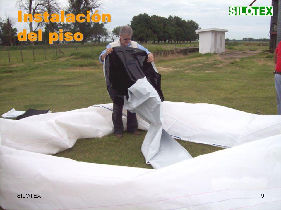 SILOTEX20 Instalación del bajo-techo