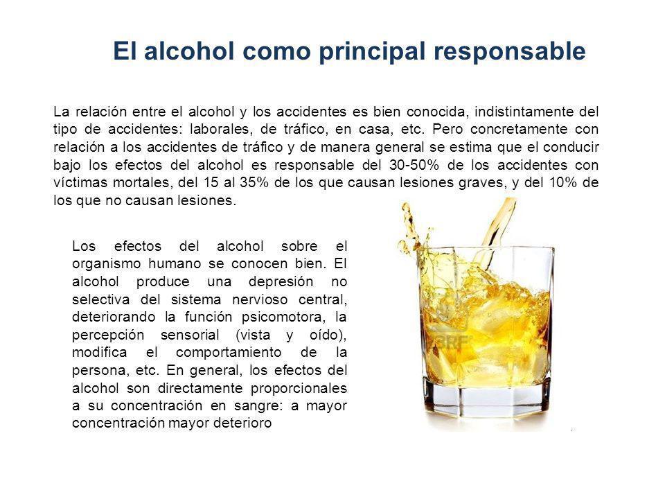 1.- Efectos sobre la capacidad de conducción Está perfectamente demostrado que el alcohol deteriora marcadamente la función psicomotora y la capacidad para conducir con seguridad.