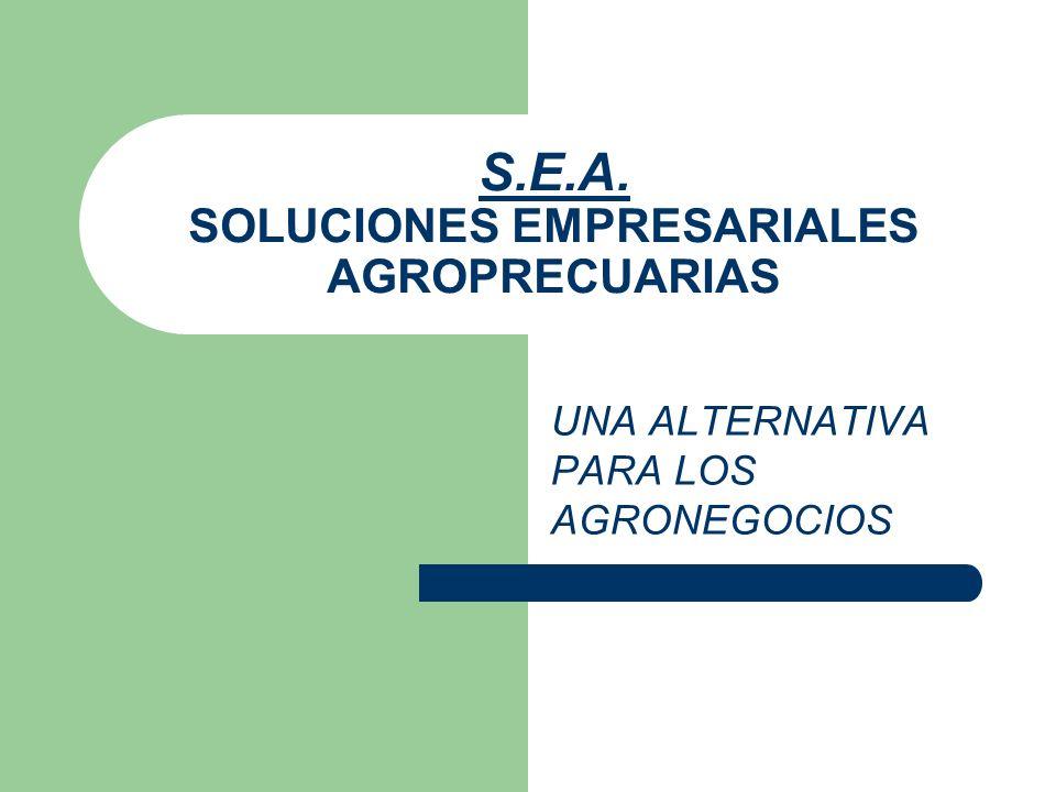 S.E.A. SOLUCIONES EMPRESARIALES AGROPRECUARIAS UNA ALTERNATIVA PARA LOS AGRONEGOCIOS