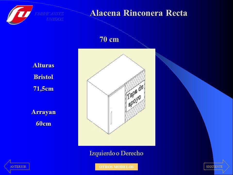 Alacena Rinconera Recta 70 cm Izquierdo o Derecho AlturasBristol71,5cmArrayan60cm SIGUIENTEANTERIOR OTROS MODELOS