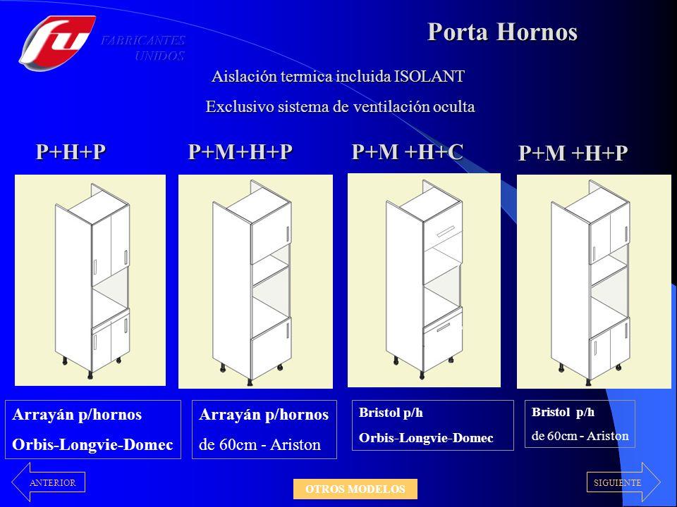 Porta Hornos P+H+P P+M +H+C P+M+H+P Aislación termica incluida ISOLANT Exclusivo sistema de ventilación oculta Exclusivo sistema de ventilación oculta Arrayán p/hornos Orbis-Longvie-Domec Arrayán p/hornos de 60cm - Ariston Bristol p/h Orbis-Longvie-Domec Bristol p/h de 60cm - Ariston P+M +H+P SIGUIENTEANTERIOR OTROS MODELOS