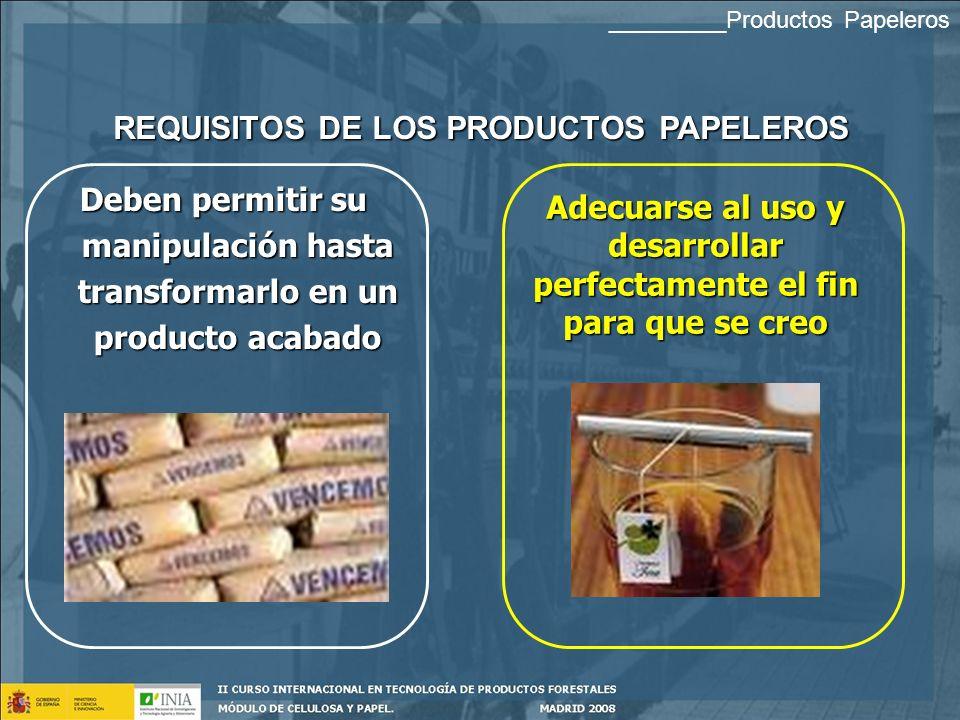PRODUCTOS PAPELEROS PAPELCARTÓN MANIPULADOS DE PAPELCLASIFICACIÓN _________Productos Papeleros