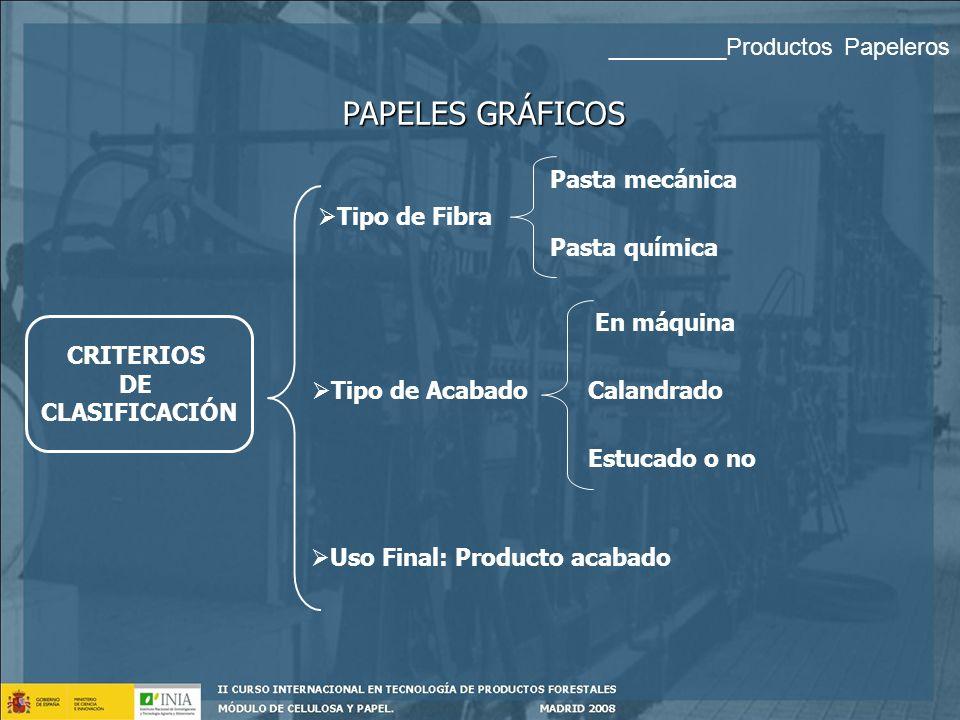 PAPELES GRÁFICOS REQUISITOS DE USO PROPIEDADES DEL PAPEL Capacidad de Impresión Ópticas (contraste de imágenes, reproducción de colores) Opacidad Seca