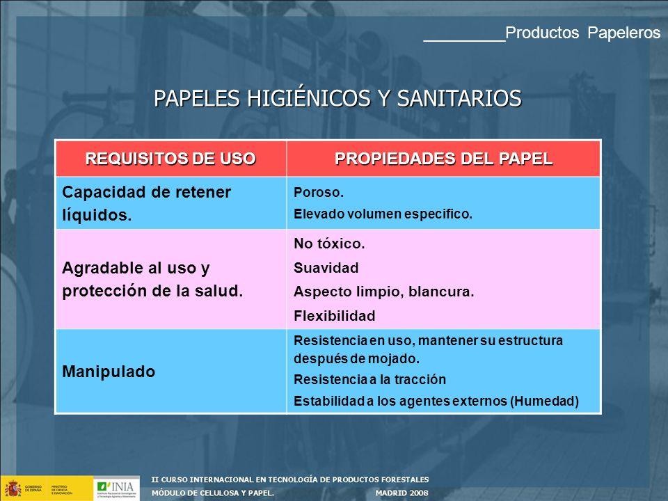 PAPELES HIGIÉNICOS Y SANITARIOS _________Productos Papeleros