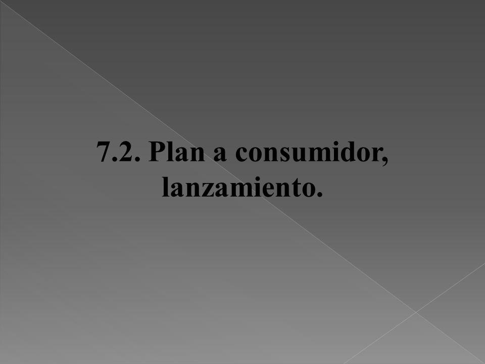 7.2. Plan a consumidor, lanzamiento.