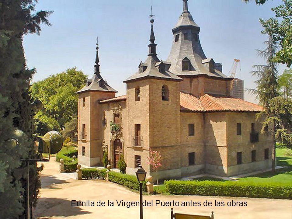 Ermita de la Virgen del Puerto, a orillas del Manzanares, construída en 1718 por Pedro de Ribera, por encargo del Marqués de Vadillo. Óleo del pintor